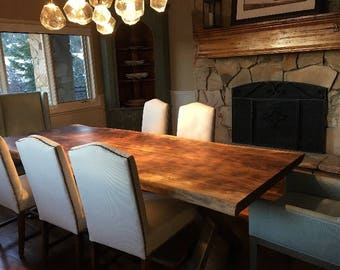 Live Edge Dining Table Etsy