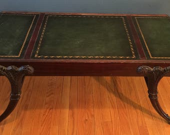 mahogany leather top coffee table - Leather Top Coffee Table