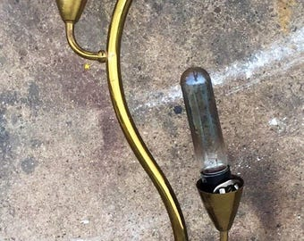 Vintage Brass Squiggle Wall Light