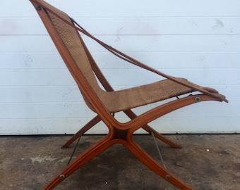 Hividt & Molgaard X Chair Mid Century Leather