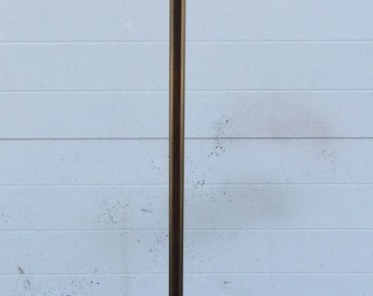 Mid Century Rosewood and Brass Floor Lamp without shade