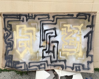 Abstract Maze/Two Ways Painting