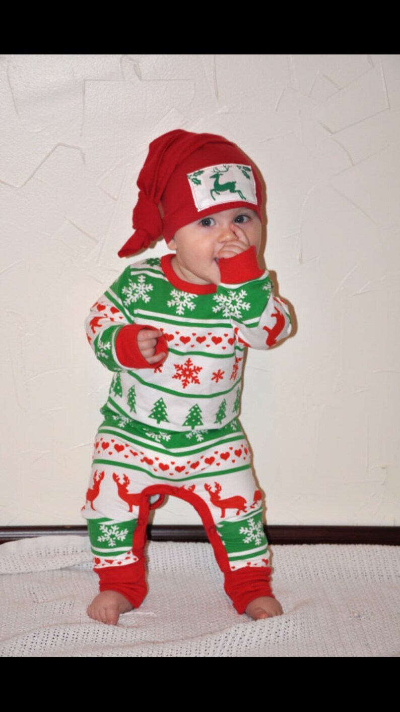 61056e2ed5474 SALE Baby Christmas Outfit Christmas Pajamas Baby's | Etsy