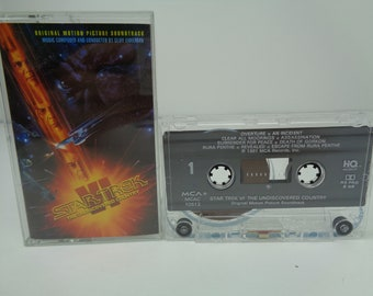 Star Trek VI The Undiscovered Country Soundtrack OST 1991 Cassette Tape