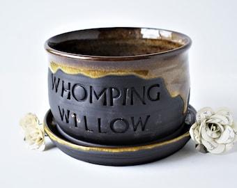 Whomping Willow planter/ planter/ succulent planter/ ceramic planter/  gift for him/ birthday gift/ gift for her/ wedding gift