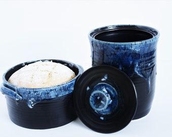 Gift for him/ sourdough crock/ kitchen canisters/ wedding gift/ sourdough jar/ bread baker/ sourdough starter