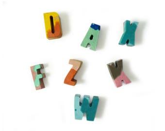 Little Colourful Concrete Letters
