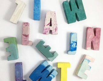 Custom Colourful Concrete Letters