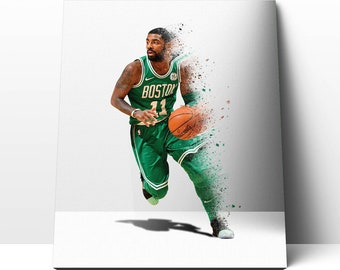 Kyrie Irving NBA Basketball Limited Poster Canvas Framed Wall Art Print  Poster Watercolor Effect Painting Home Decor Gifts b2ed45401939