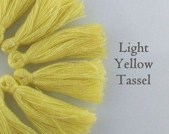 Light Yellow Tassel, Little Cotton Tassel, 25-35mm, 10/20/50pc, Yoga Bracelet Tassel, Boho Tassel, Australian Seller, TS108