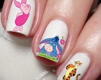 Winnie the pooh nail etsy