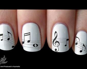 Nail Art Music Note Etsy