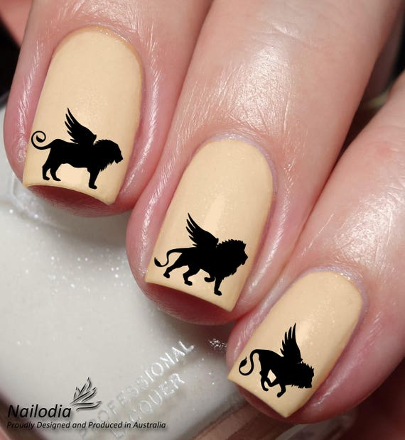 Winged Lion Nail Art Sticker Water Transfer Decal 149