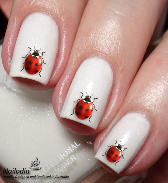 Ladybird Ladybug Nail Art Sticker - Ladybird Ladybug Nail Art Sticker Etsy