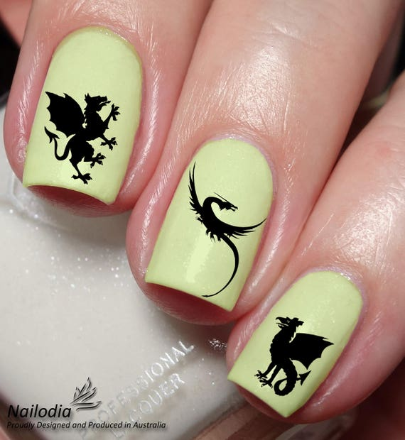 image 0 - Dragon Nail Art Stickers Decal Wrap Etsy