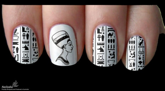 Ancient Egypt Symbol Nail Art Sticker Water Transfer Decal Etsy