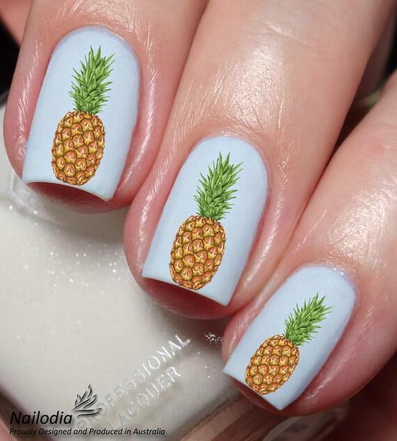 Pineapple Grape Fruit Nail Art Water Transfer decal sticker   Etsy