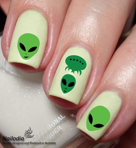 Alien Nail Art Sticker Water Transfer Decal 124 Etsy