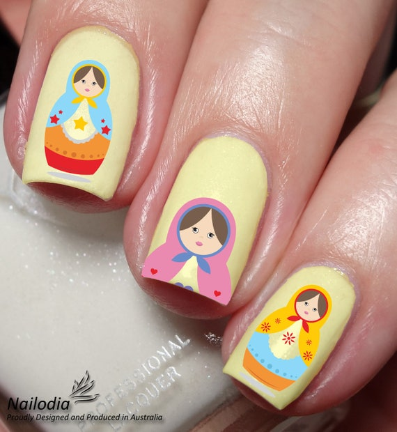 Russian Doll Nail Art Sticker Water Transfer Decal 41 Etsy