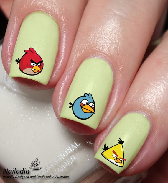 Angry Bird Nail Art Sticker Water Transfer Decal 109 from Nailodia ...