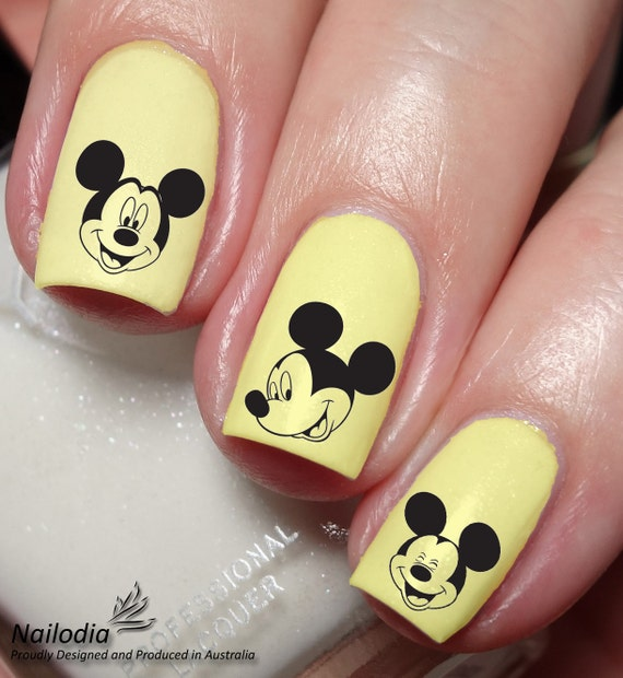 Mickey Mouse Disney Nail Art Sticker Water Transfer Decal