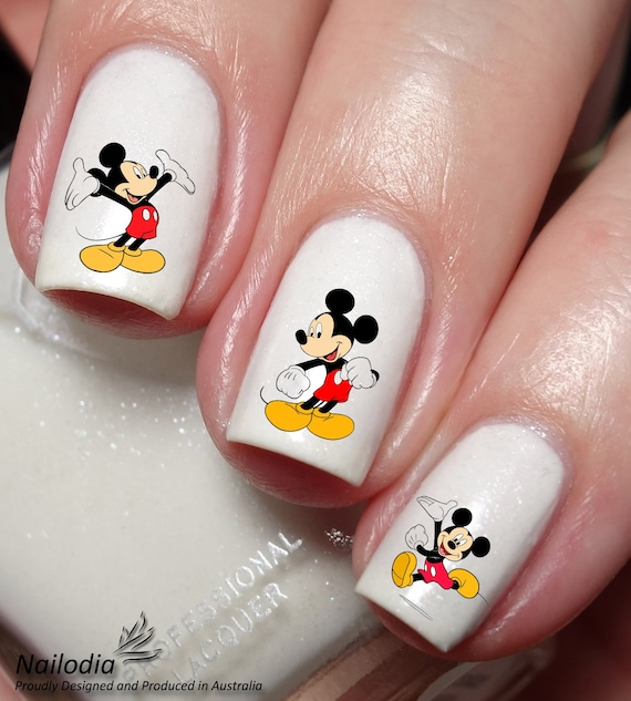 Mickey Mouse Disney Nail Art Sticker Water Transfer Decal - Mickey Mouse Disney Nail Art Sticker Water Transfer Decal Etsy