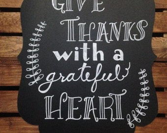 Give Thanks chalk sign