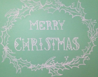 Merry Christmas chalk sign