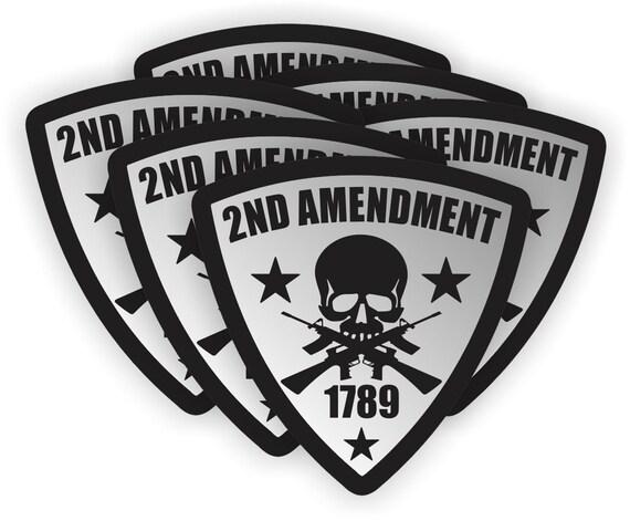4 Pack of 2 inch Hard Hat Helmet Decals 2nd Amendment