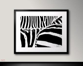 Black and white art print, Zebra print, Zebra art, Black and white printable, Zebra print decor,Zebra decor, Zebra wall art,Zebra decoration