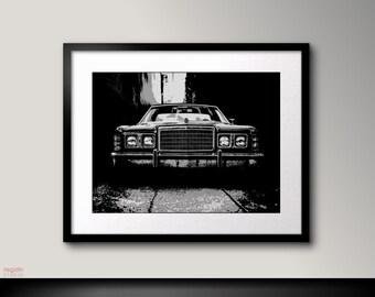 Car art, Ford, Black and white art, Car print, Black and white print art, Car poster, Printable wall art, Car decor, Black art,Printable art