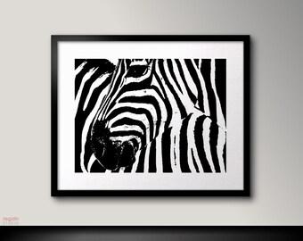 Zebra wall art, Zebra print, Black and white print art,, Zebra art, Black and white printable, Zebra wall decor,Zebra decor Zebra decoration