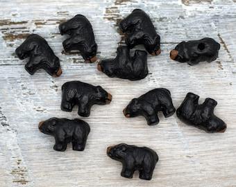 Peruvian Ceramic Gray Donkey Bead Single OR Lot of 5 OR 10 Animal DIY Charm