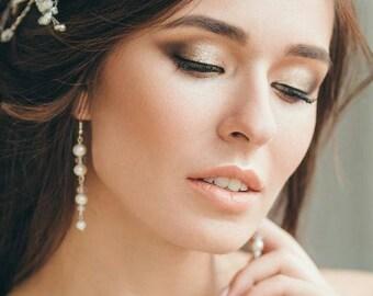 Pearl drop earrings, wedding earrings, bridal earrings, wedding jewelry, bridal jewelry