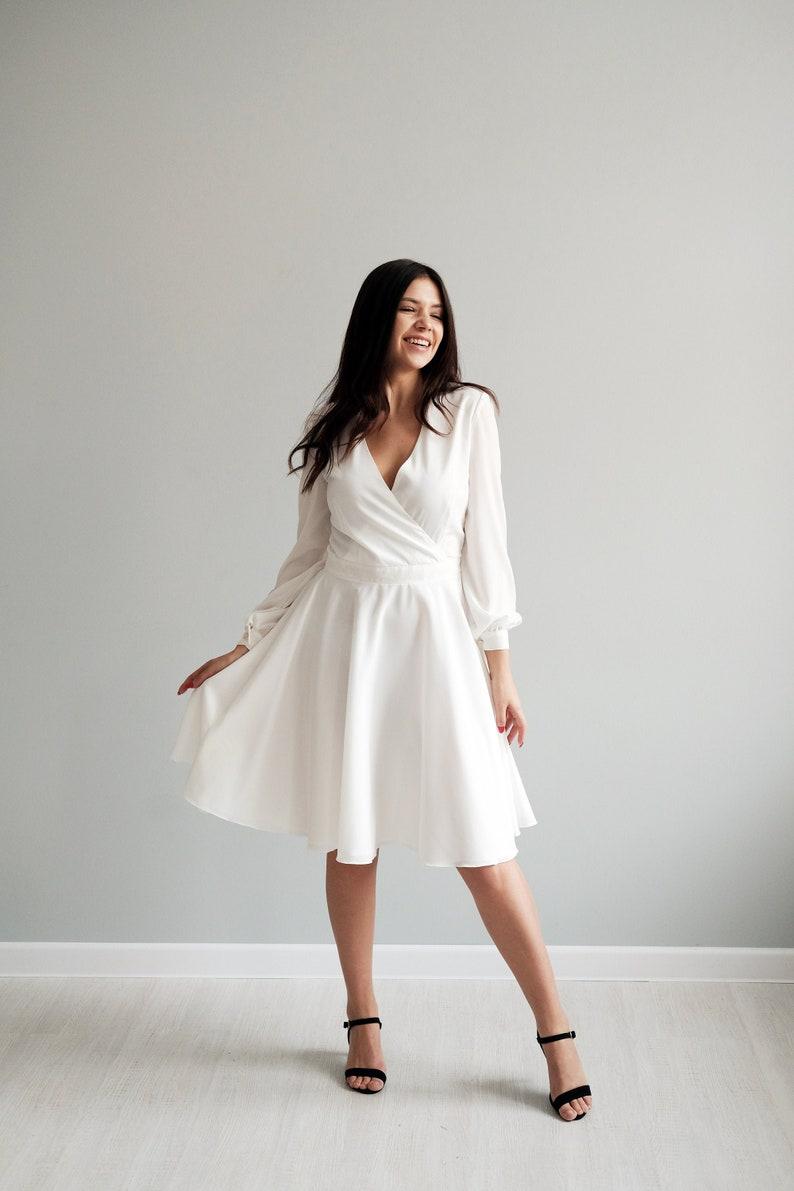 Short wedding dress Ivory wedding dress Bridal gown image 0