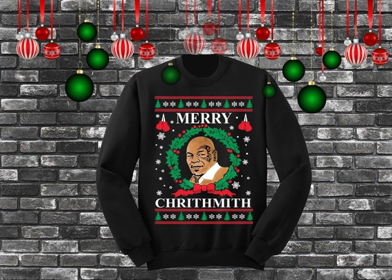 Mike Tyson Merry Chrithmith Ugly Christmas Sweater Etsy