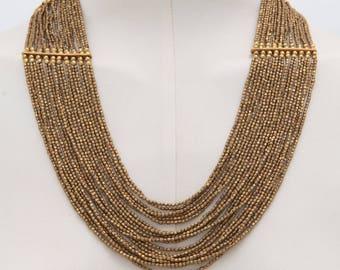 Bib Necklace Statement - Bohemian Necklace for Women - Statement Necklace Chunky - Multi Strand Boho Necklace - Handmade Boho Gift
