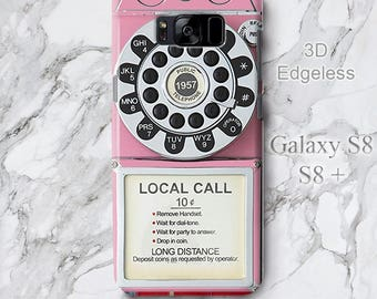 00248834b For Samsung Galaxy S10 Plus Case Retro Pink Telephone Stand