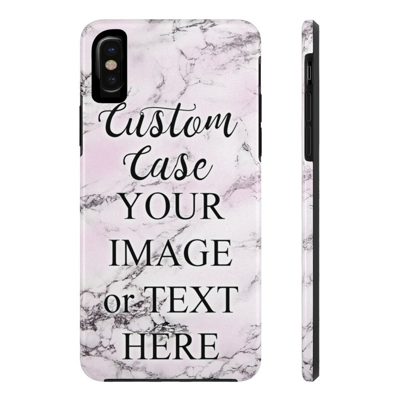 Customize iPhone XS Max Case, Personalize iPhone XR Protective Tough Case  Custom Made iPhone X 8 7 6 Plus 5 Cover Customise Personalise Gift