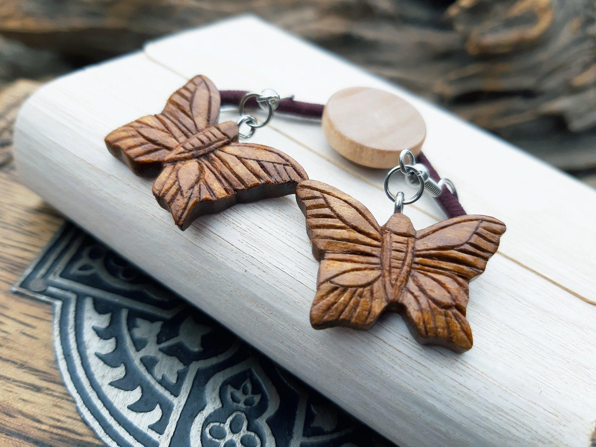 Butterfly Handcrafted Wood Earrings
