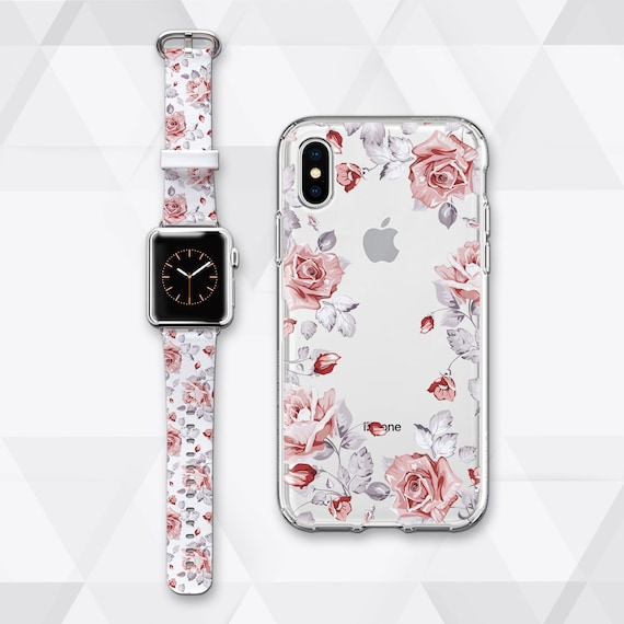 45908a021 Floral Watch Band 42mm Apple iWatch Band 38mm Gift for Her | Etsy