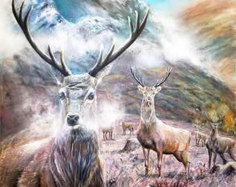 stags. art print