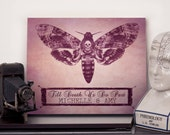 Personalised anniversary name print, till death us do part - Choose any size - Print or canvas - Anatomical Heart - Gothic Wall Art