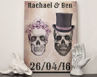 Personalised names and date print - Day of the Wed - Choose any size - Print or canvas