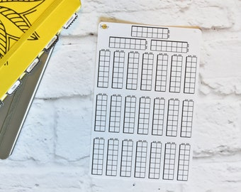 AM PM Checklist Planner Stickers | Made for your bullet journal. 9L