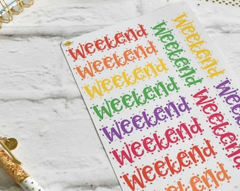 WEEKEND BANNERS | Made to fit any planner! 12L