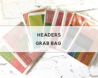 HEADERS grab bag