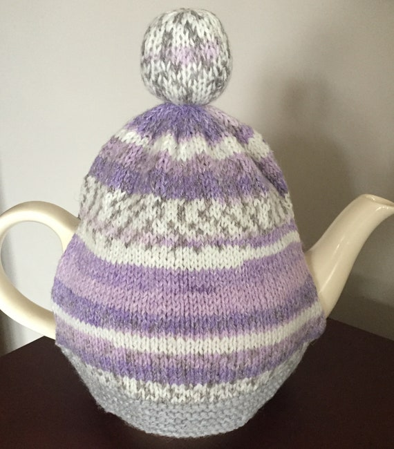 Hand Knitted Fair Isle Tea Cosy ALL proceeds to charity | Etsy