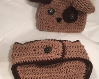Doggy Diaper Cover and Hat