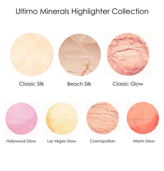 818fab5f8809b Ultimo Minerals CLASSIC GLOW Peach Highlighter Shimmer - All-Natural Kosher  Loose Powder - Eyes & Cheeks - Eye Brightener!!